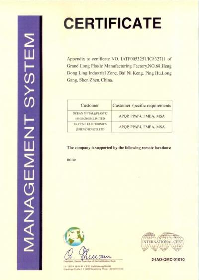 TS16949 08~11 Certificate 2